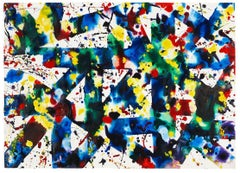Untitled - 20th Century, Abstract, Acrylic on paper by Sam Francis