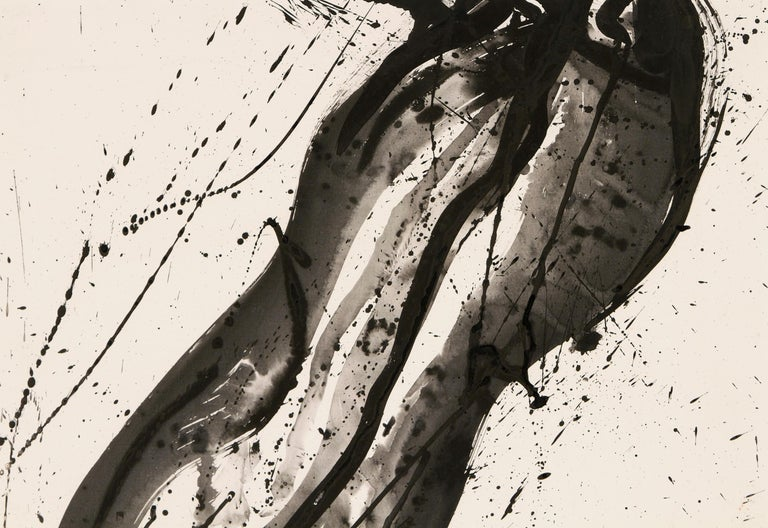 Untitled (Black and White Composition) - Post-War Painting by Sam Francis