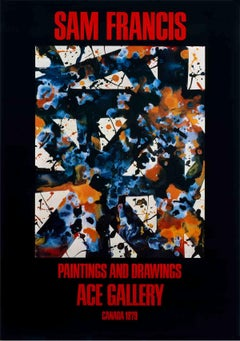1979 After Sam Francis 'Paintings and Drawings' Abstract Black,Multicolor