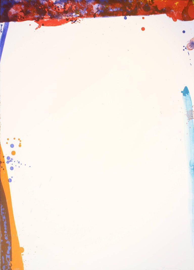 Sam Francis Abstract Print - Chinese Wall