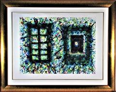 """Concert Hall Set III"" Large original color lithograph"