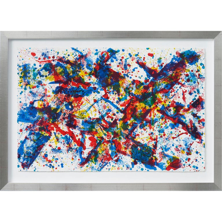 Doubled Cross (SF-188) - Print by Sam Francis