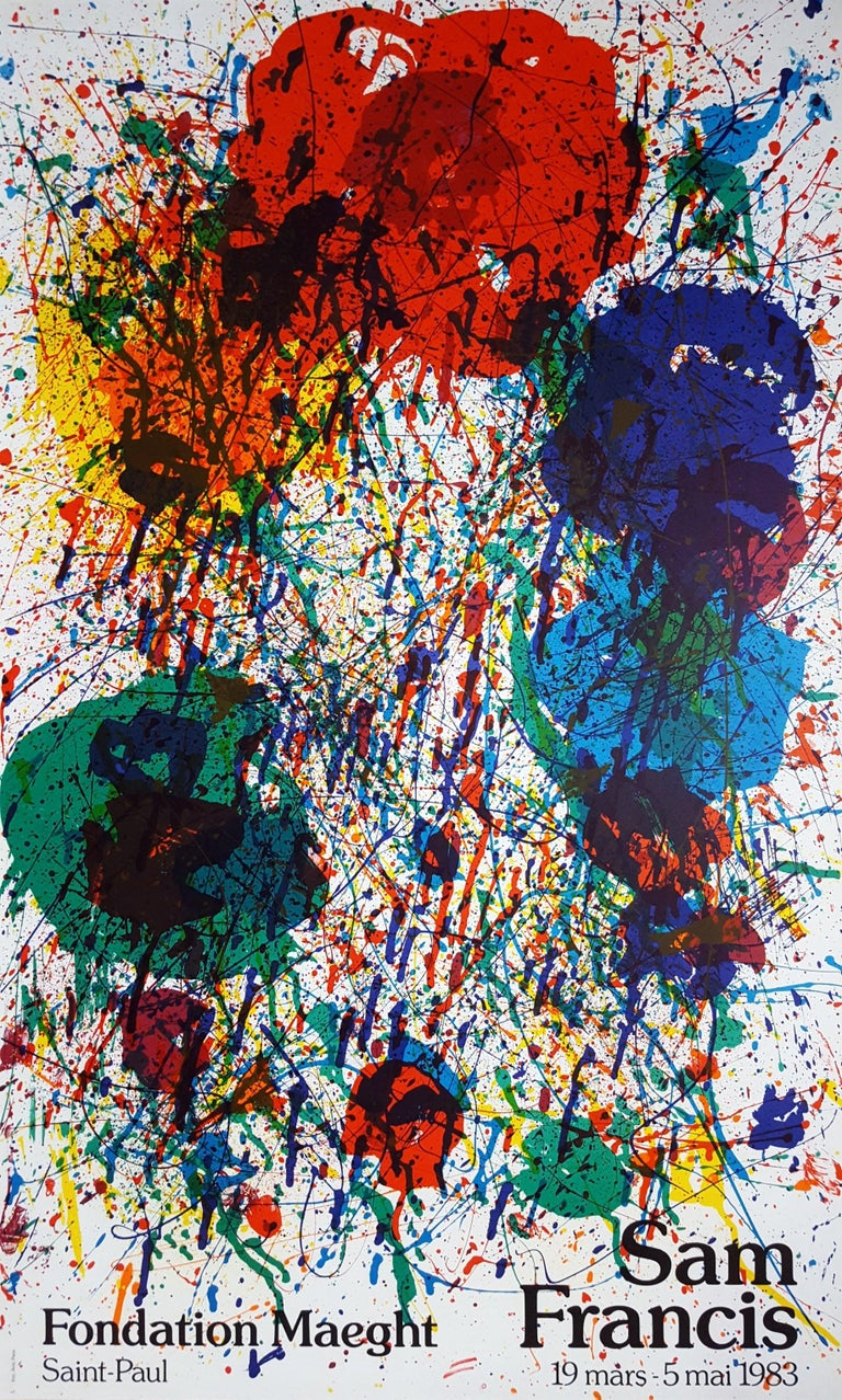 Sam Francis Abstract Print - Expo 1983 (SF-229p)