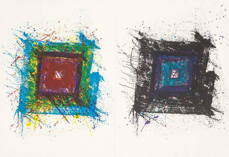 "Sam Francis, ""Paradise of Ash (diptych)"", limited edition color lithograph"