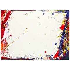 """Sam Francis """"Blue Cut Sail"""" Lithograph, 1969"""