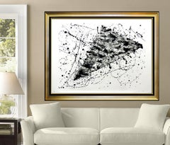 Sam Francis Lithograph SF 214 Authentic Original HAND SIGNED Large Abstract Art