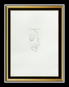 Sam Francis Original Etching Hand Signed Self Portrait SFE 303 Modern Framed Art
