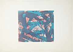 """Sam Francis """"Salmon, 1973"""", hand signed and limited abstract color etching"""