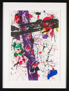 "Sam Francis ""Untitled"" color lithograph, 1984"