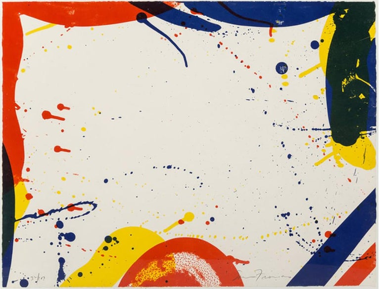 Sam Francis Abstract Print - SAM FRANCIS  UNTITLED FROM PORTFOLIO 9  SIGNED AND NUMBERED  1967
