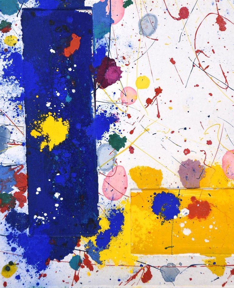 Untitled, 1981 - Abstract Expressionist Print by Sam Francis