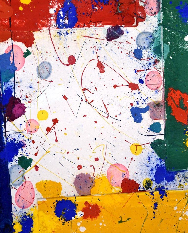 Untitled, 1981 - Beige Abstract Print by Sam Francis