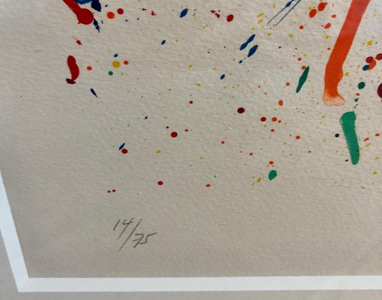 Untitled - Abstract Expressionist Print by Sam Francis