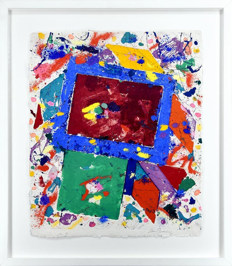 Untitled Monotype - Print by Sam Francis