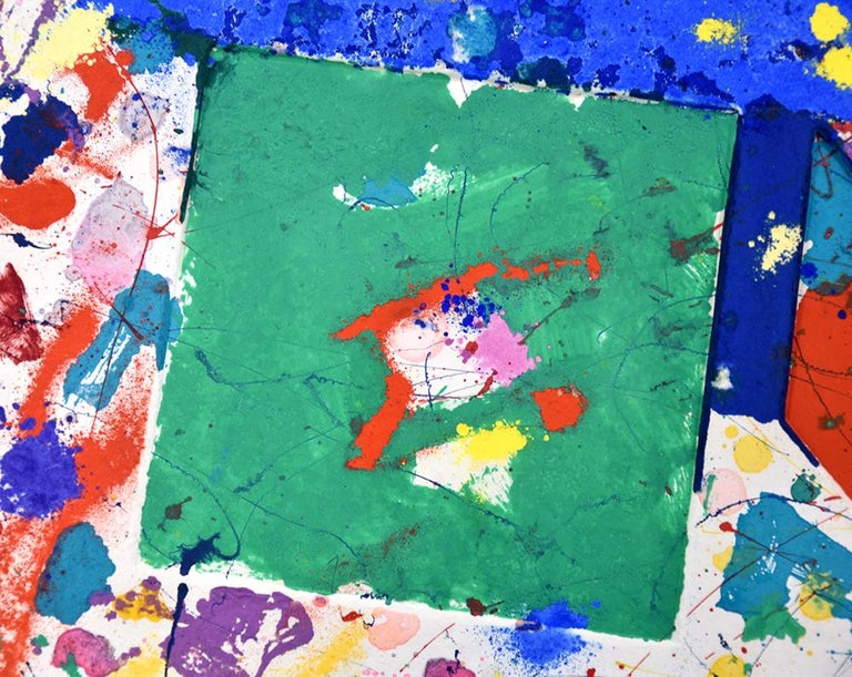 Untitled Monotype - Abstract Expressionist Print by Sam Francis
