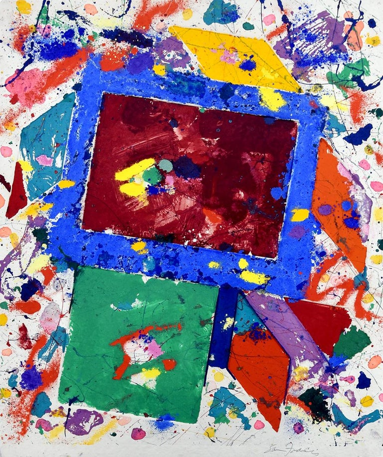 Sam Francis Abstract Print - Untitled Monotype