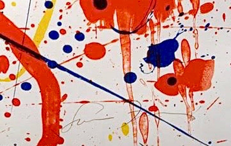 Untitled, Sam Francis - Beige Abstract Print by Sam Francis