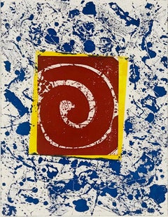 Untitled SFE-003 (Blue, Red and Yellow) - American Abstract Expressionism