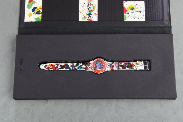 Sam Francis's eponymous collaboration with Swatch is an action painting on the wrist. 