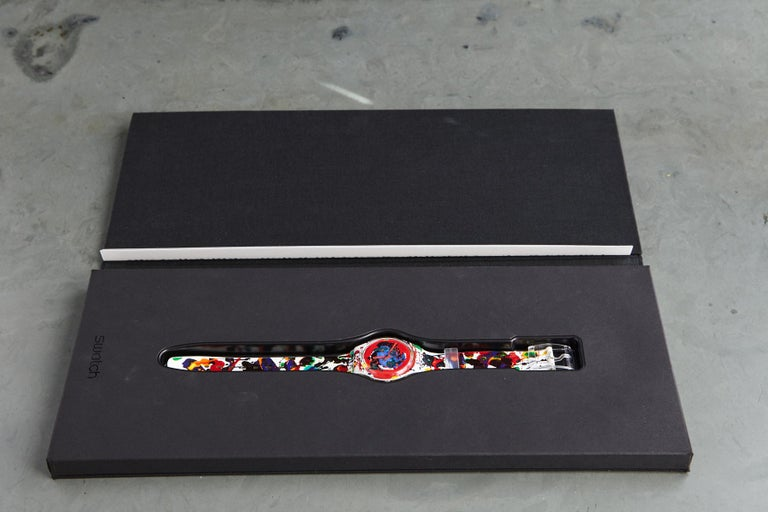 Modern Sam Francis Swatch Collectors Watch in Original Box, Never Worn, 1992 For Sale