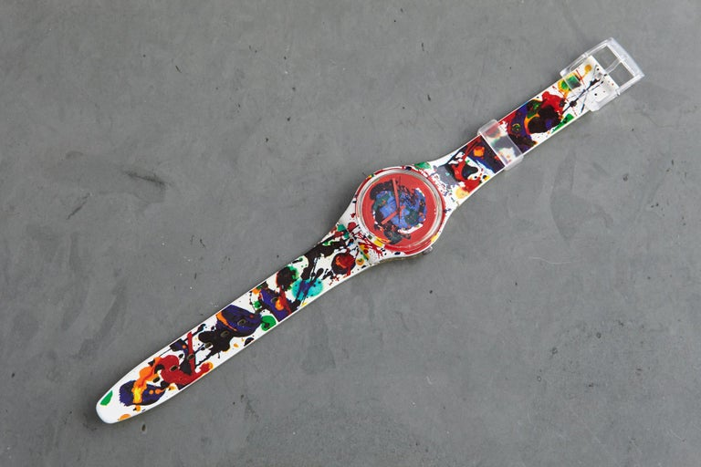 Swiss Sam Francis Swatch Collectors Watch in Original Box, Never Worn, 1992 For Sale