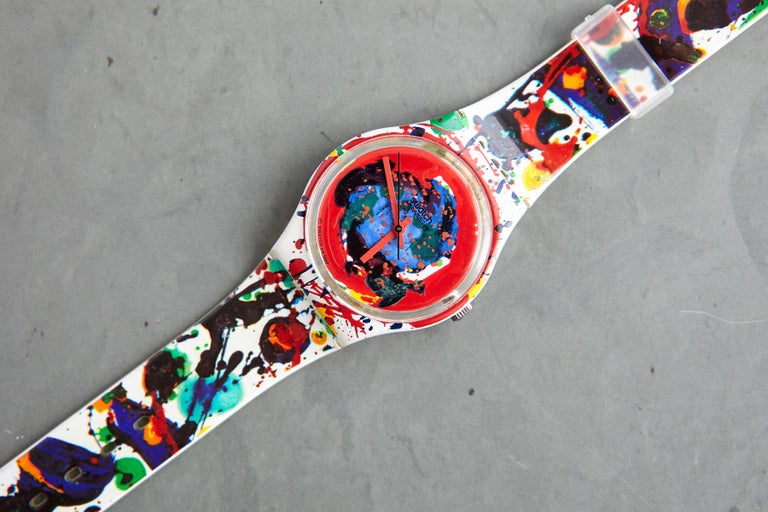 Sam Francis Swatch Collectors Watch in Original Box, Never Worn, 1992 In Excellent Condition For Sale In Weston, CT