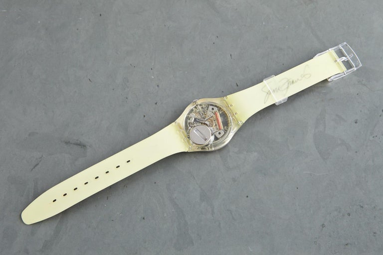 Plastic Sam Francis Swatch Collectors Watch in Original Box, Never Worn, 1992 For Sale