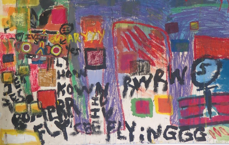 Modern Sam Gant Painting FLY SEE FLYING For Sale