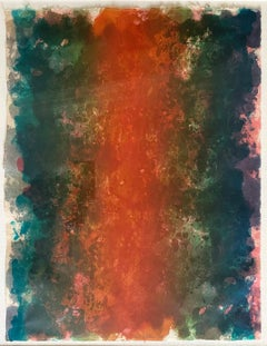 """FIRE"" Color Field Print by Sam Gilliam Influential Black Artist"