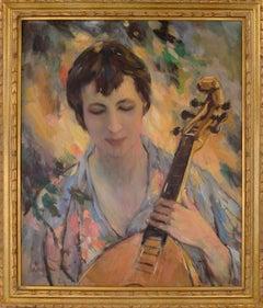 """Interlude"" - Mandolin Player Figurative by Sam Harris"