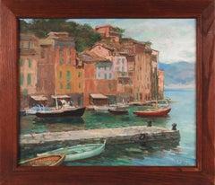 """""""Portofino Afternoon"""" 20th Century European Oil"""