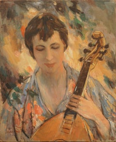 The Mandolin Player Figurative by Sam Harris