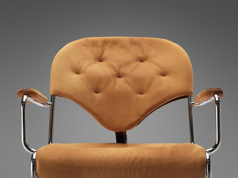 Swedish Sam Larsson for DUX Armchairs Model 'Sam' in Cognac Leather For Sale