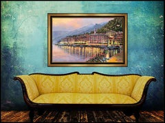 Sam Park Bellagio Twilight Giclee on Canvas Signed Large Art