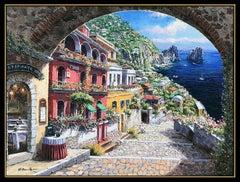 Sam Park Original Giclee on Canvas Signed Large Archway Capri Art