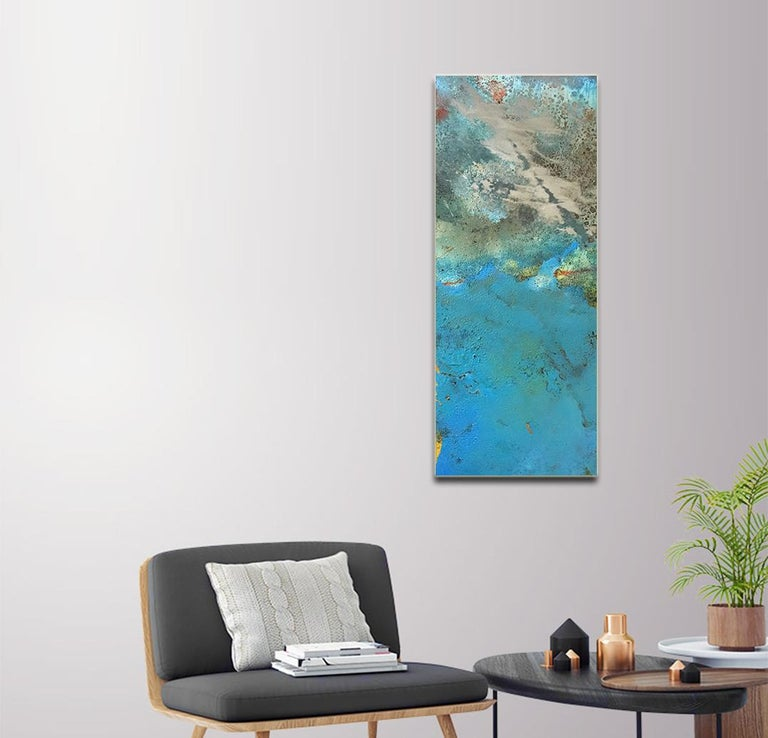 Bury by Sam Peacock Contemporary Oil Painting steel, abstract landscape painting For Sale 3