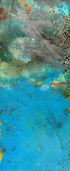 Bury by Sam Peacock Contemporary Oil Painting steel, abstract landscape painting