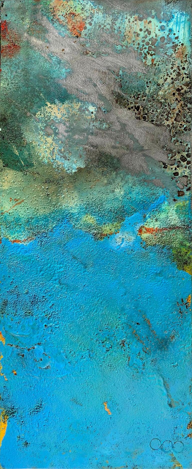 Artist: Sam Peacock  Title: Bury  Materials: Oil, Coffee and Parafin on steel  Medium: Mild steel sheet  Size: 85 x 35 cm  Edition: Original Artwork  Year: 2018  _________________________________________________________________________  Sam