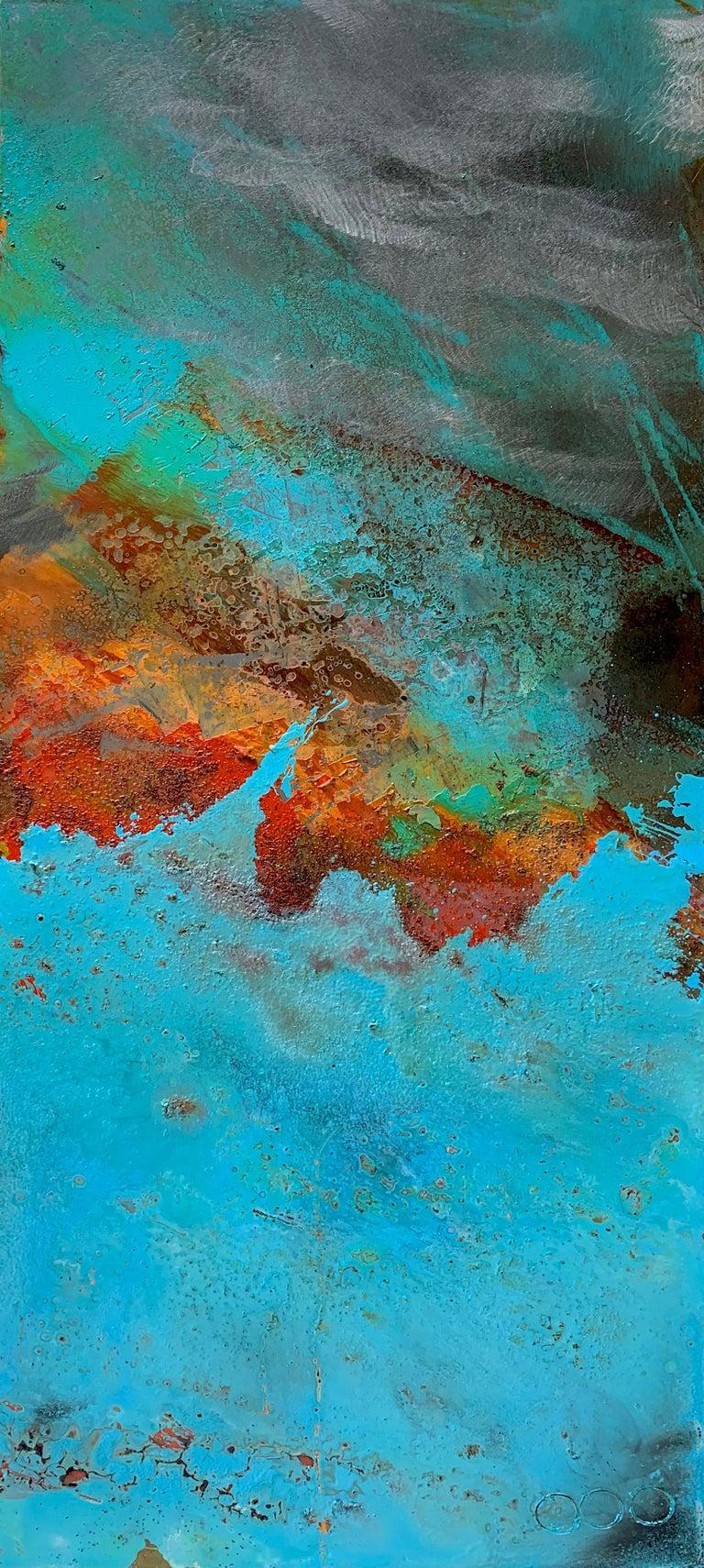 Artist: Sam Peacock  Title: Victoria  Materials: Oil, Coffee and Parafin on steel  Medium: Mild steel sheet  Size: 85 x 35 cm  Edition: Original Artwork  Year: 2018  _________________________________________________________________________  Sam