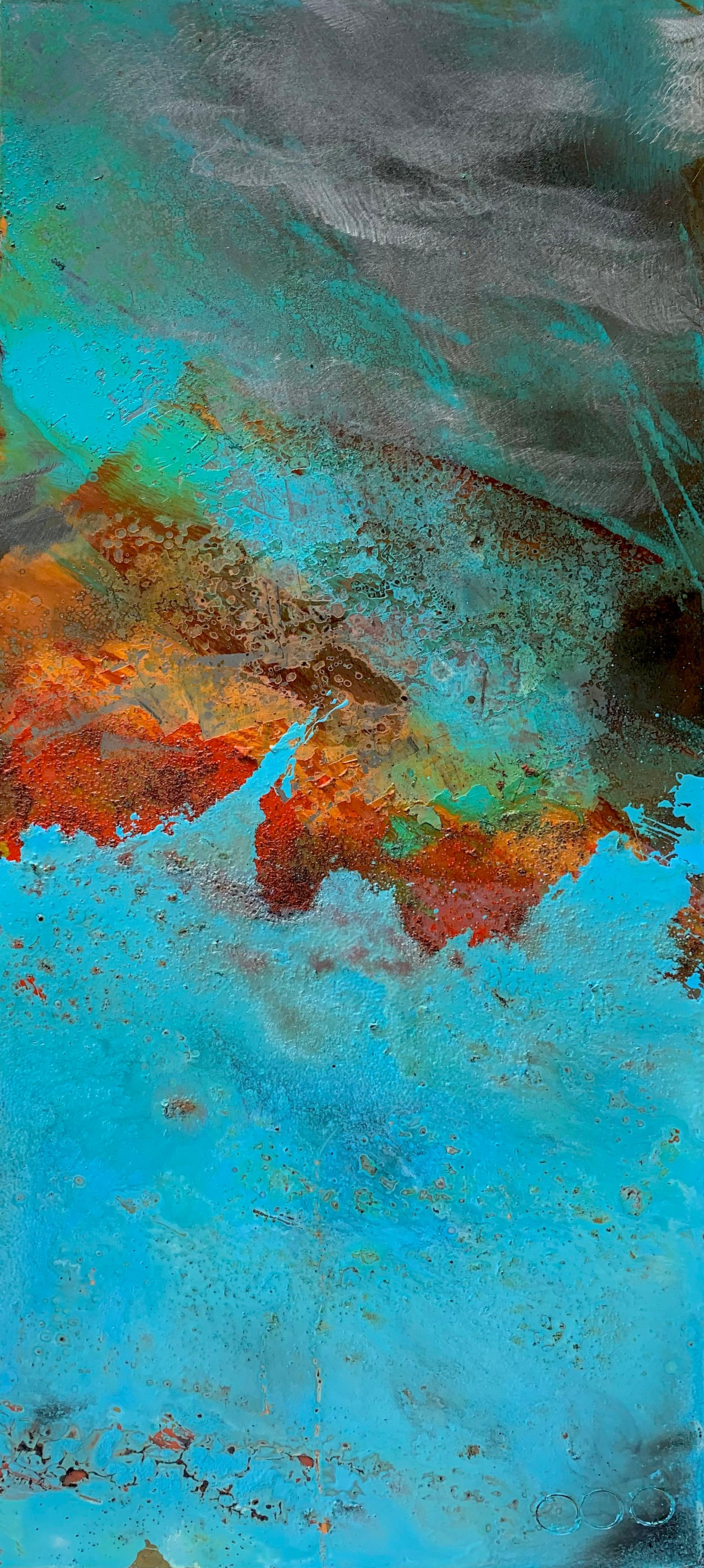 VIctoria by Sam Peacock Contemporary Oil on steel, abstract landscape painting
