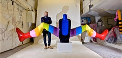 SPLIT DECISION - a dynamic monumental sculpture by British artist Sam Shendi