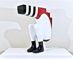 STEPPING STONE - a unique monumental sculpture by British artist Sam Shendi
