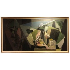 Sam Stetsons Lemons in Low Key 1974 Oil on Canvas
