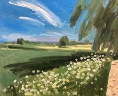 Sam Travers, Cow Parsley June, Original landscape painting