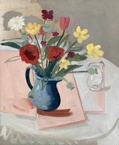 Sam Travers, Summer Flowers, Original floral painting