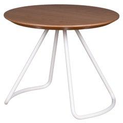 Sama Coffee Table, Contemporary Modern Minimalist Natural Oak & White Metal