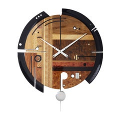 Samada Brown Clock by Arosio Milano