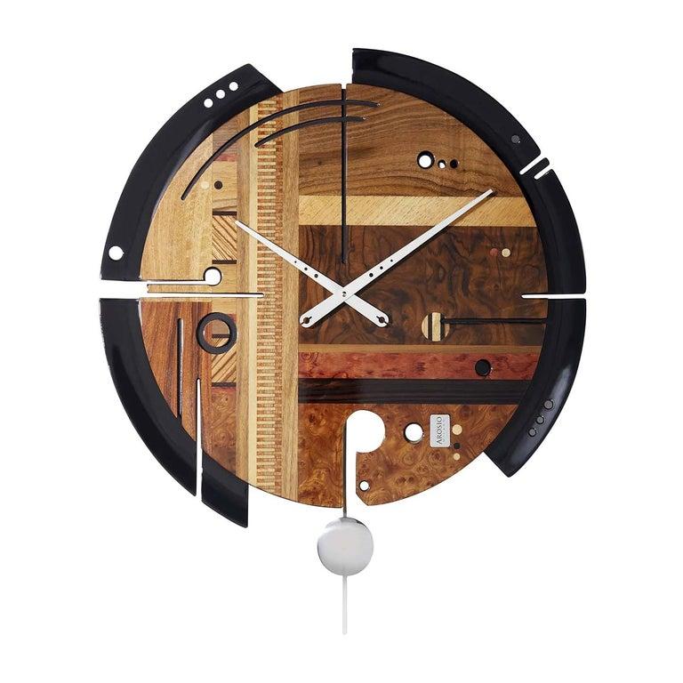 Samada Brown Clock by Arosio Milano For Sale