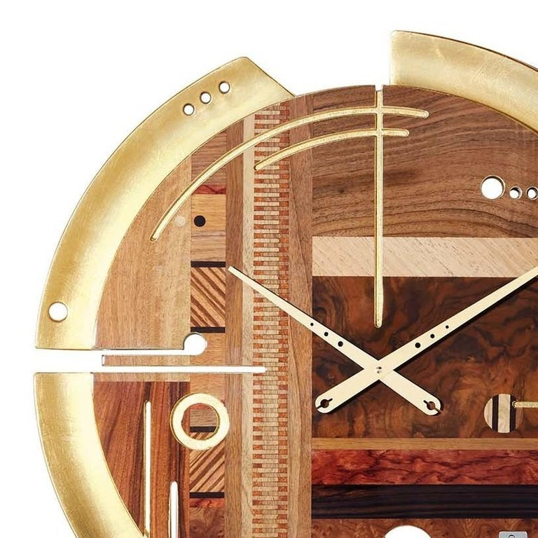 Samada Gold Special Edition Clock by Arosio Milano In New Condition For Sale In Milan, IT
