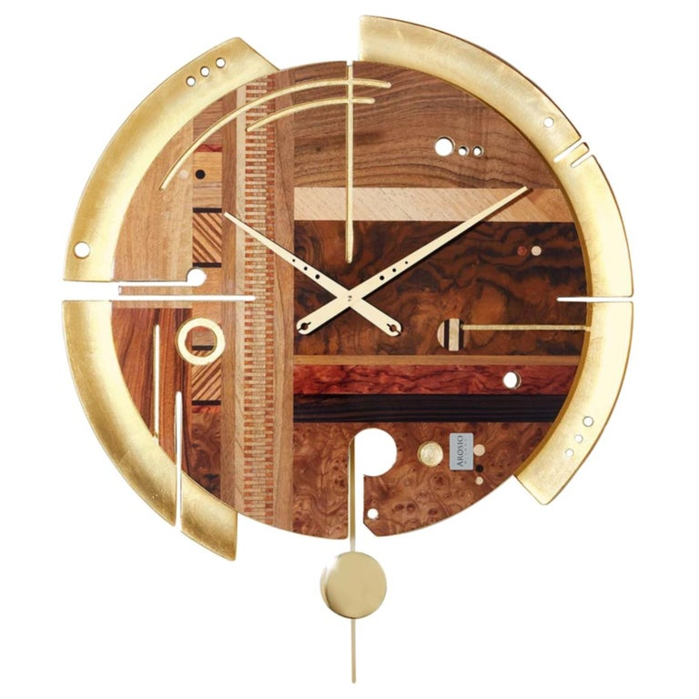 Samada Gold Special Edition Clock by Arosio Milano For Sale